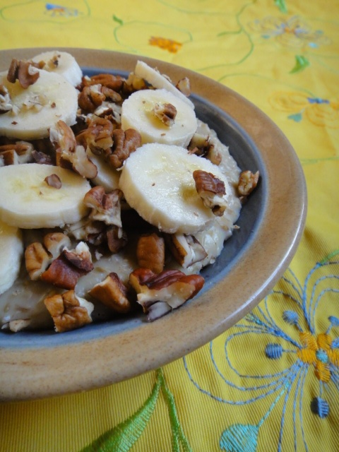Banana Pecan Oatmeal Pudding