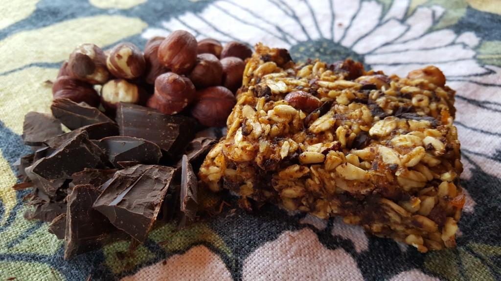 pumpkin hazelnut granola bars